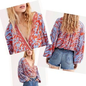 Free People Cruisin' Together Faux Wrap Top XS